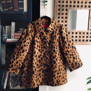 ST. JOHN Collection Leopard Animal Jacket Coat